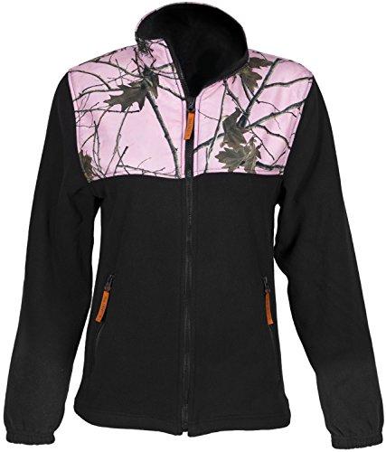 Trail Crest Ladies Pink Camo Camoflauge C-max Wind Jacket Sweatshirt (X-Large)