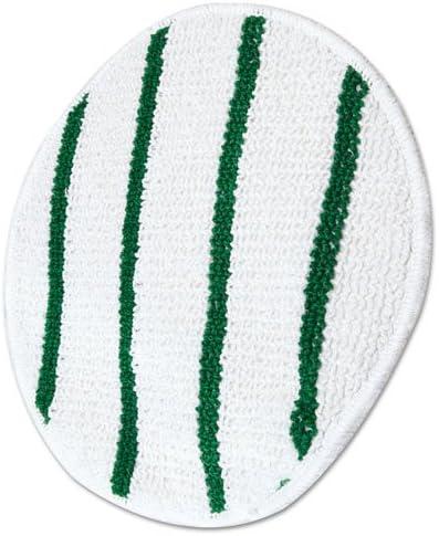 White Impact 1017 Polyester Blend Low Profile Carpet Bonnet 17 Diameter 1 Case of 6 each