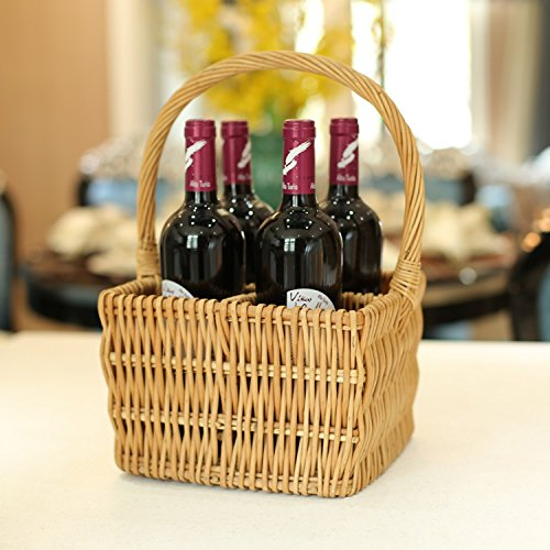 Wine Storage Basket Fruit Box Handmade Wicker Is Very Natural, Vintage And Pastoral. Can Be Good Home Decoration (Verona Wine Storage)