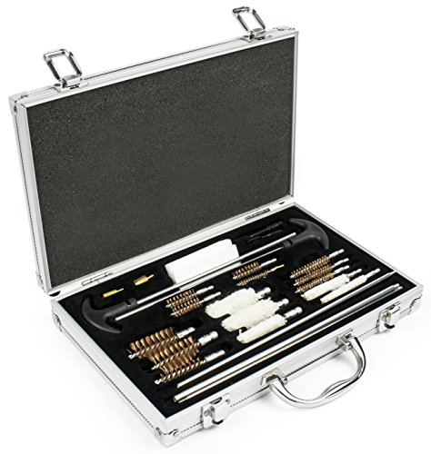Bastex 28 Piece Universal Best Gun Cleaning Kit for Rifles, Pistols, Handguns, and Shotguns Cleaning Brushes and Mops for Nearly all Barrel (Best Cleaning Rod)