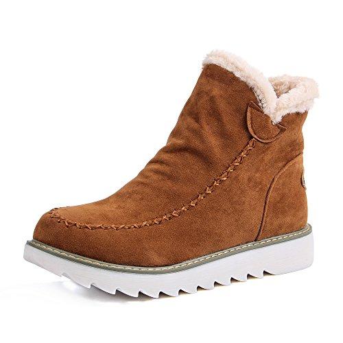 JOYORUN Boots Schneestiefel Damen Outdoor Winterschuhe Warm Gefütterte Braun