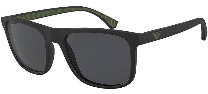 Emporio Armani 0EA4129 Gafas de sol, Matte Black, 56 para ...