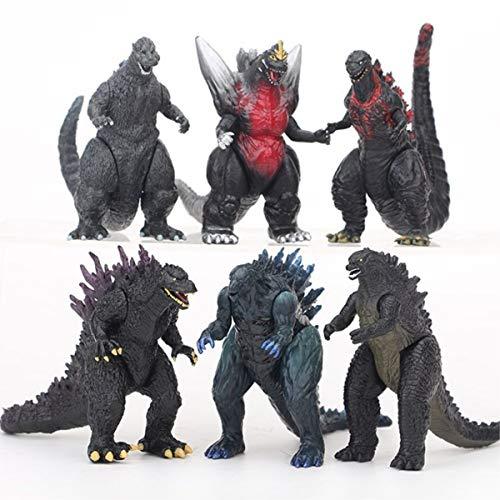 davidamy's gift Godzilla Dinosaur Toys Action Figures Movable Joint Playsets (Bigger 6pcs Set)