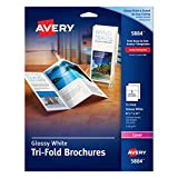 Avery Brochures for Color Laser Printers 8.5 x 11, White, Glossy, Pack of 50 (5884)