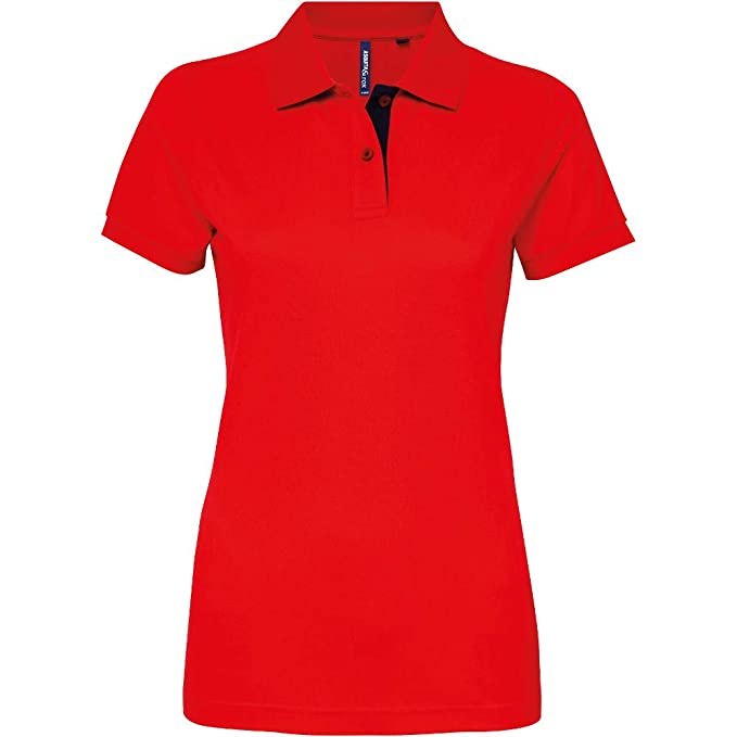 Outdoor Look Womens Fitted Contrast Polo Shirt: Amazon.es ...