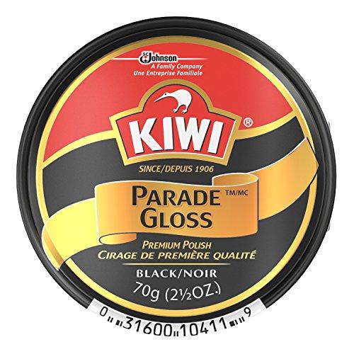 Kiwi Parade Gloss Shoe Polish - Black - 2.5 oz. - Large (Pack - 6) ()