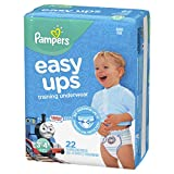 Pampers Easy Ups Diapers Size 5 (3T-4T), Pull On Disposable Training Diaper for Boys, JUMBO PACK, 22 Count