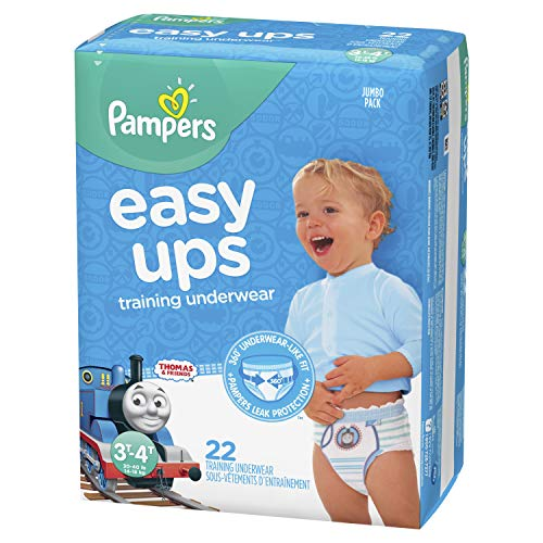 Pampers Easy Ups Pull On Disposable Training Diaper for Boys, Size 5 (3T-4T), Jumbo Pack, 22 Count by Pampers