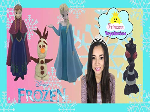 Clip: Disney Frozen Sparkle Dom Playdoh Toy Unboxing and Pretend -