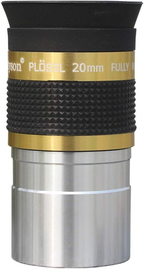 Datyson Telescope Accessories 1.25 inch 50 Degree Plossl 20mm HD Telescope Eyepiece 5P9912