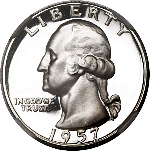 (1957 P Silver Washington Quarter 25c Gem Proof)