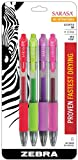 Zebra Sarasa Rapid Dry Ink Gel Retractable Pen, 0.7mm, Fashion Assorted, 4 Pack (46874)