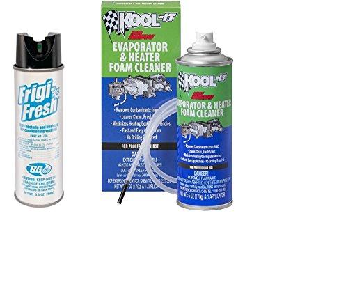 BG Frigi-Fresh 5.5 oz. & Lubegard 96030 Kool-It Evaporator and Heater Foam Cleaner 6 oz. - Combo Fresh Air Heater