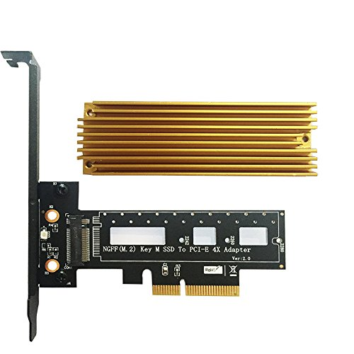 (PCI Express M.2 SSD NGFF PCIe Card to PCIe 3.0 x4 Adapter with Heatsink Support M.2 PCIe (NVMe or AHCI) Type 2280, 2260, 2242 )