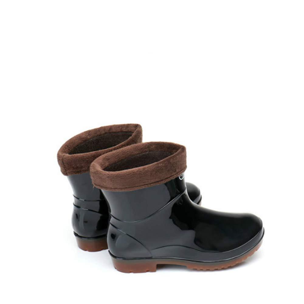 Men Waterproof Rubber Rain Boots with Easy-On Handles,Winter rain Boots