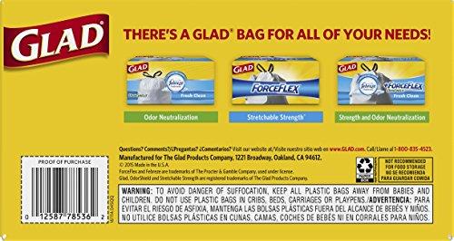 Glad Tall Kitchen Drawstring Trash Bags, 13 Gallon, 90 Count, (Packaging May Vary)