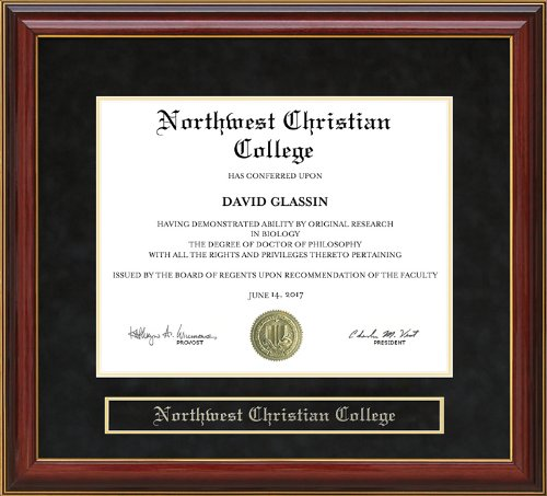 Northwest Christian College Diploma Frame - Mahogany by Wordyisms