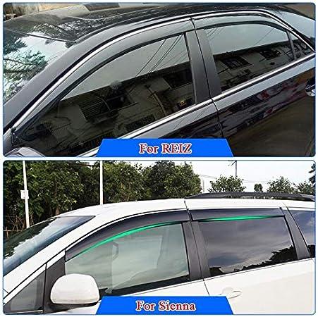 Corolla//Camry//Vios//Prado//YarisL//Reiz//Highlander Car Styling Acrylglas Regen Guards SYJY-SHOP Windabweiser//Sonnenblende//Regen Schild nur for Toyota RAV4 Farbe : for Sienna 11-17