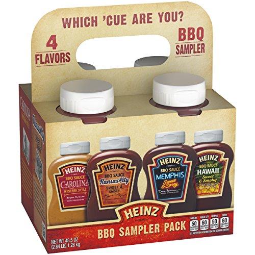 Heinz BBQ Sampler Pack Carolina Mustard Style, Kansas City S