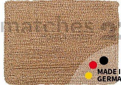 Fußmatte Fußabstreifer Kokos Wendematte Uni einfarbig natur Kokosmatte 50x70x2,5cm