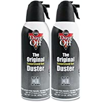 Falcon Compressed Gas (152a) Disposable Cleaning Duster 2 Count with wipe, 10 oz. Can (DSXLPW)