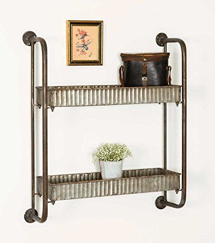 - Small Corrugated Shelves-Vintage Industrial Farmhouse Chic