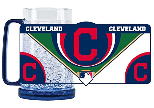 (Duck House 1 Pc, Cleveland Indians Mug Crystal Freezer Style, 16oz, Eye Catching Crystals, State-Of-The-Art Refreezability With Color Coordinated Handle & Base)