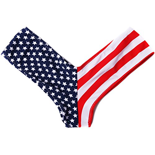 zilian V-style Bikini Bottom Swimwear (XL, flag) ()