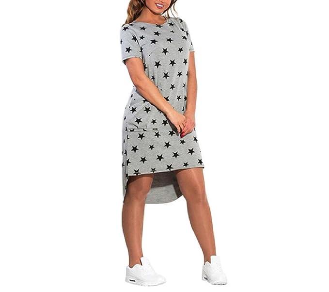 5XL 6XL Women\'s Dress Casual Summer Plus Size Five Stars Irregular ...