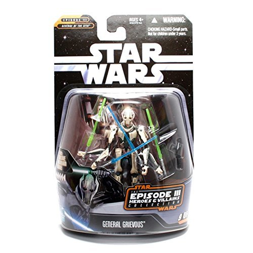 - Episode 3 General Grievous 4 Armed Action Figure with Lightsabers