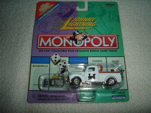 Johnny Lightning - Monopoly - Reading Railroad - Ford Truck (White) Replica w/Exclusive Bonus Miniature Metal Game Token - Exclusive Miniature