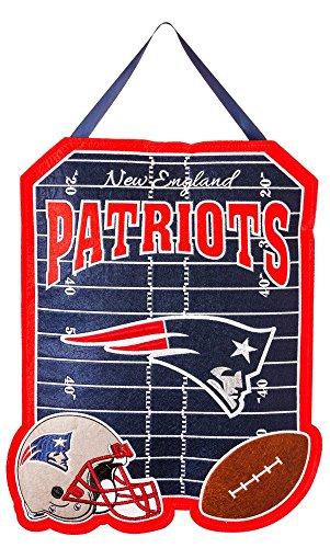 Team Sports America New England Patriots Outdoor Safe Felt Door Decor