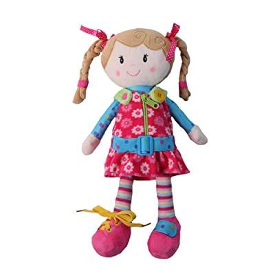 """Snuggle Stuffs Sugar Snap 15"""" Activity Educational Learn to Dress Doll for Toddlers: Toys & Games"""