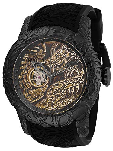 - Invicta Men's S1 Rally Stainless Steel Automatic-self-Wind Watch with Silicone Strap, Black, 26 (Model: 26432)