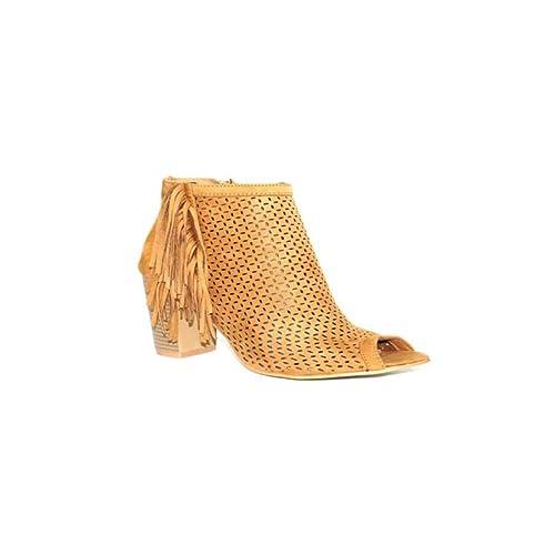 NIKO AMORE NIKO Botin Safari 7009 Botines Mujer Tacón Medio Fiesta Primavera Moda 2018 Cómodos Casuales Zapatos Color Camel Beige - 07-02834 - 38, ...