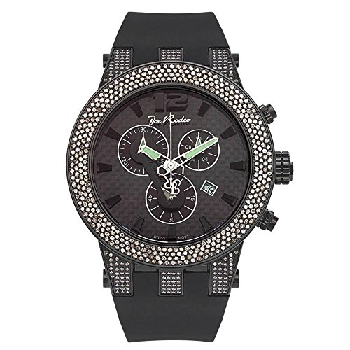 Joe Rodeo JRBR7 Broadway Diamond Watch, Black Dial with Black Band by Joe Rodeo