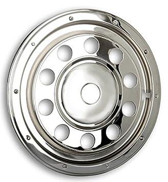 Tapacubos Acero Inoxidable 22,5 pulgadas - Rueda - Revestimiento - para camiones (de acero inoxidable): Amazon.es: Coche y moto