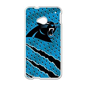 Happy Carolina Panthers Design Fashion Comstom Plastic case cover For HTC One M7