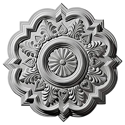 """Ekena Millwork CM20DRAMF Deria Ceiling Medallion fits Canopies up to 6"""", Americana"""
