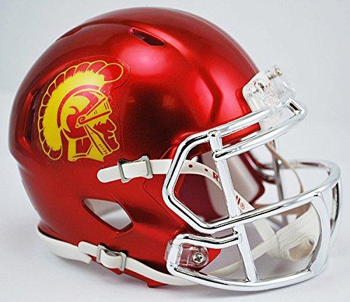 (Riddell NCAA USC Trojans Chrome Speed Mini Football Helmet)