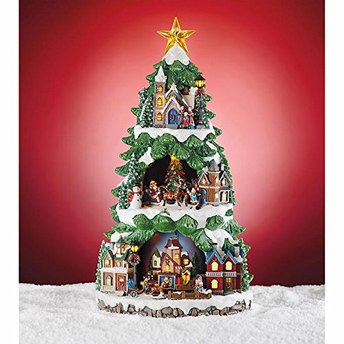 Animated Christmas Tree A 20'' LED Lighted Music Box that will be a hit with this holiday season. Be the first to own this beautiful decoration. by Sesonal Holiday