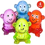 """ArtCreativity Squeezable Sticky Monkey Set (Pack of 4) 