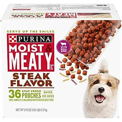 Purina Moist & Meaty Steak Flavor Adult Dry Dog Food