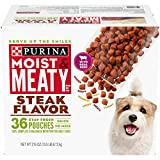 Purina Moist & Meaty Wet Dog Food, Steak Flavor