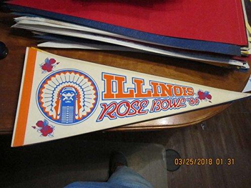 - 1984 Illinois Rose Bowl football pennant