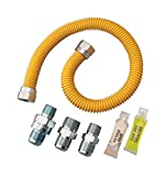 Watts 20C-3231V4KIT-TS-48B Gas Appliance Connector Kit, 48 inches