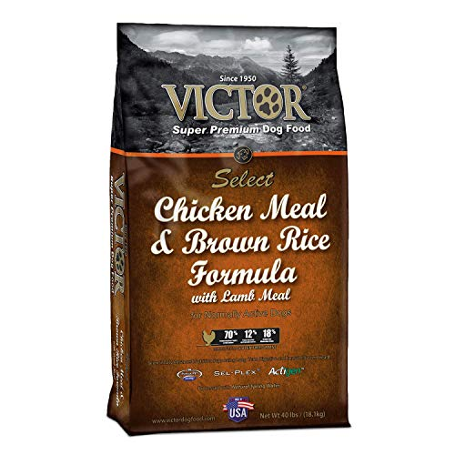 Victor Chicken Meal And Brown Rice Formula Dry Dog Food, 40 Lb. Bag (Dry Rice Brown Formula)