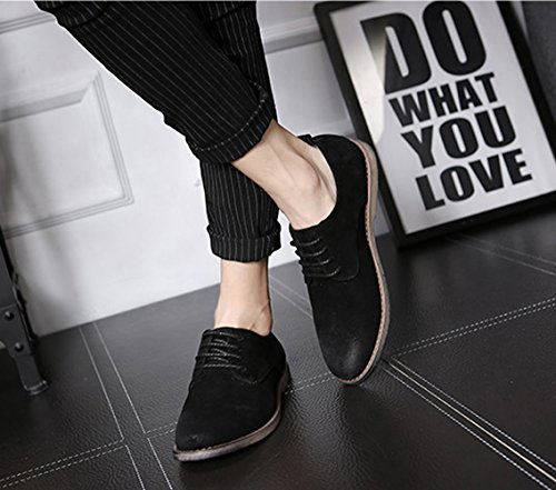 Tip Mens Black Lace Black Fashion Oxfords Casual Santimon Shoes Grey Brogue Blue Up Retro Wing SYdaHgxq