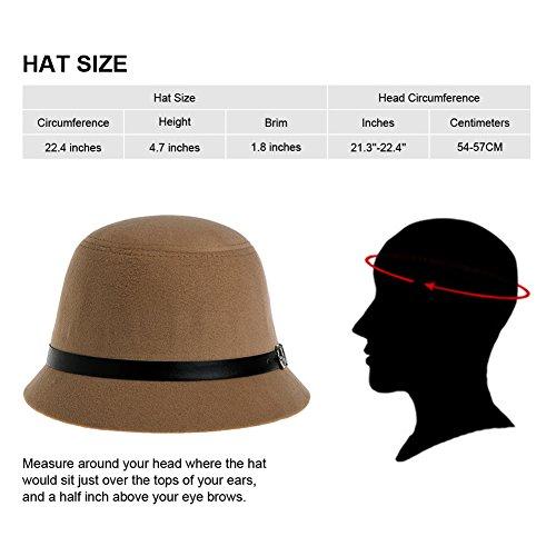 b97f566fa19 VBIGER Bowler Hat Fedora Derby Hats Vintage Cloche Hats Bucket Hats for  Women