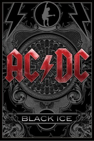 AC/DC Posters Poster - Black Ice (36 x 24 inches)